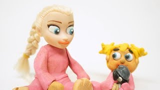 Princess Baby Elsa First Word Frozen Play Doh Stop Motion Cartoon Animations