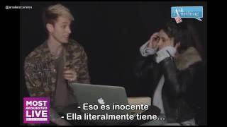 Camila Cabello y MGK respondiendo preguntas. (En Español)