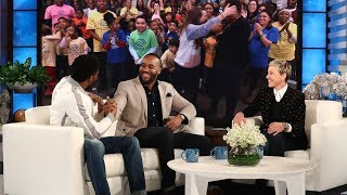 Chadwick Boseman and Ellen Surprise
