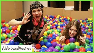 Gertie and Therma 24 Hours In Box Fort Ball Pit / AllAroundAudrey