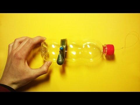 рыбацкая снасть с пластиковой бутылки