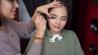 I Do My 12 year Old Sisters Makeup| Gianella Ortmann