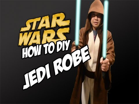 How to DiY Jedi Robe for Star Wars Cosplay Costume the force awakens