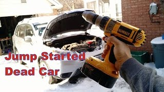 Jump start car with cordless drill!!!!