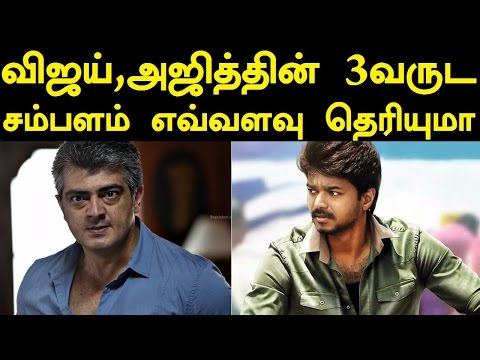 Vijay vs Ajith 3 Years Salary Exclusive Report by Trendswood   Thalapathy 61   Vivegam