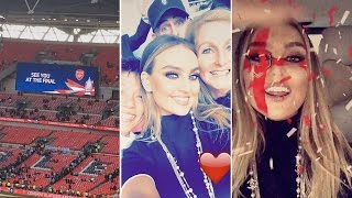 Perrie Edwards At Arsenal Football Match With her Family