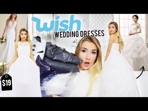 TRYING ON WEDDING DRESSES FROM WISH.COM