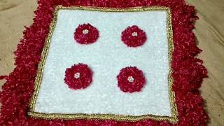 DIY:-Make awesome door mat,TV cover,dish TV cover,laptop cover