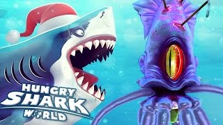 GIANT SQUID BOSS BATTLE!!! - Hungry Shark World | Ep 34 HD