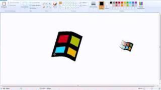 Windows logo speedpaint on ms paint