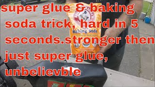 super glue trick, hard in 5 seconds, 5 times stronger, this is unbelievable