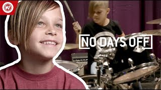 7-Year-Old Is STUNNING On The Drums   No Days Off