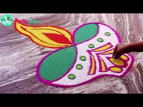Xxx Mp4 Easy Diwali Rangoli Design How To Make Deepak Rangoli 3gp Sex