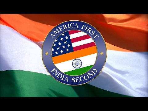 America First India Second Official Welcome President Trump EverySecondCountsEU