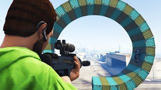 SNIPE THE LOOPERS! (GTA 5 Funny Moments)