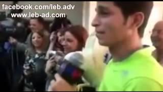 عباس علي جعفر يقتحم مؤتمر الوزير حاملا دجاجة