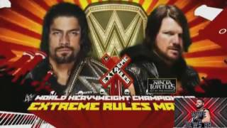 WWE Extreme Rules 2016 Roman Reigns vs Aj Styles Highlights Made By Atif Rock