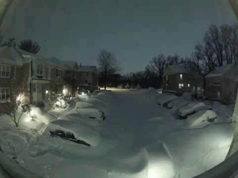 Xxx Mp4 Snowzilla Snow Blizzard Timelapse Maryland USA January 2016 3gp Sex