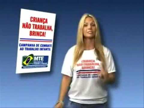 Carla Perez Scheila Carvalho e Tony Sales Campanha Contra o Trabalho Infantil 2009