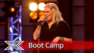 Samantha Atkinson, Rebekah Ryan and James Wilson share the stage | Boot Camp | The X Factor UK 2016