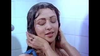 Hema Malini sexy wet in blue towel