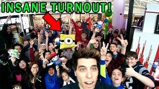 Most INSANE Meet & Greet Crowd EVER Playing Arcade Games! | Matt3756