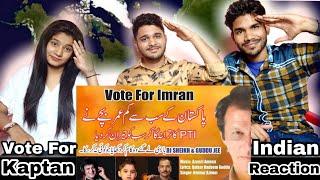 Vote For Kaptan By Ammaz Azeem | AZ Records | PTI New Song Reaction!