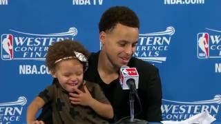 Stephen Curry'nin Minik Kızı Araya Girerse