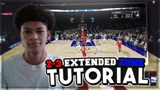 HOW TO RUN THE EXTENDED 2-3 ZONE DEFENSE IN NBA 2K18! STOPPING CORNER 3'S + MORE TUTORIAL
