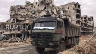 Syria: Locals try to get back to normal life in Aleppo