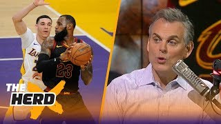 Colin Cowherd reacts after the Lakers beat the Cavs 127-113 in Los Angeles | THE HERD