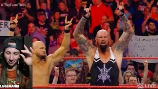 WWE Raw 1/16/17 Cesaro Sheamus vs Bullet Club