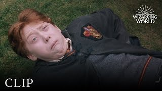 Ron's Slug Spell Backfires   Harry Potter and the Chamber of Secrets