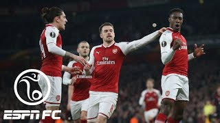 Arsenal beats AC Milan 3-1 to advance to Europa League quarterfinals   ESPN FC