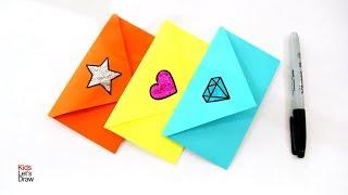Cómo hacer SOBRES para Cartas (Sin Pegamento) Fácil | Envelope Making With Paper Easy