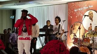 Yared Negu - Zelela - stage performance at Radissun blu Hotel