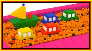 BALL PIT PARTY! - Boat Construction - Cartoon Cars Playground! Car Cartoons for Kids