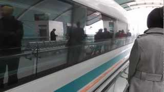Awesome Maglev Train - Shanghai Pudong Airport - Longyang Road Station, China