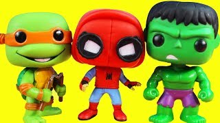 POP Heroes Toy Collection With TMNT Voltron Batgirl Power Rangers & Surprise Battle