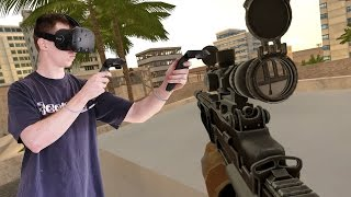 BEST VIRTUAL REALITY GAME EVER | Onward Military VR Simulator !