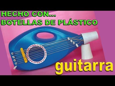 Manualidades con Botellas de Plástico Hacer Juguetes Guitarra