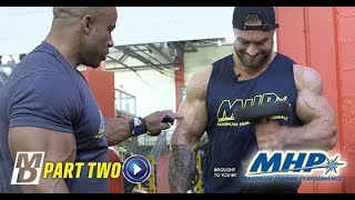 Big Arm Training with Victor Martinez and Chris Bumstead - Part 2