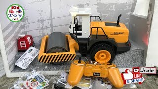 RC ROAD ROLLER TOY UNBOXING / toy review for children' / KID TOY TV video for kids