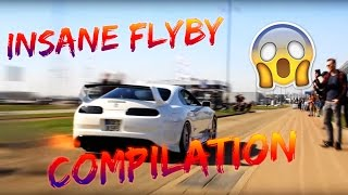 INSANE CARS Fly-By Compilation [2017] (Supra, Skyline, Mustang, BMW, Corvette)