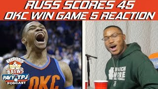 OKC Beat Jazz Game 5 Reaction | Hoops N Brews