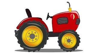 Trator | carro Garagem | desenho animado | desenho infantil | crianças Vídeo | Kids Video | Tractor