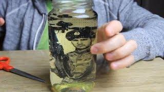 DIY Vintage Memory Jars