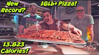 UNDEFEATED DEEP DISH PIZZA CHALLENGE - Man Vs Food - @ The Factory, Charlottetown PE