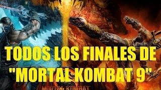 Todos los Finales de Mortal Kombat 9 en Español HD