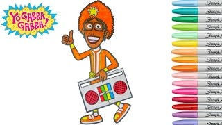 Yo Gabba Gabba Coloring Book DJ Lance Rock Colouring Pages